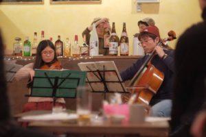 【新潟】ゲストハウスなりで、弦楽カルテットコンサートが開催されました